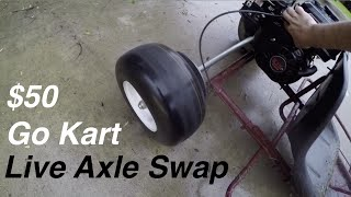 Download Live Axle Swap on the $50 Go Kart! Video
