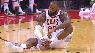 Download LeBron James Breaks His Ankle and Stays in the Game Video