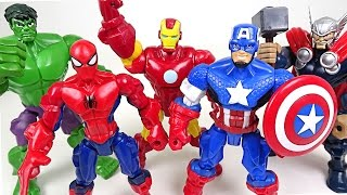 Download Marvel Mashers! Hulk, Spider Man, Captain America, Iron Man, Thor's body have changed!! - DuDuPopTOY Video