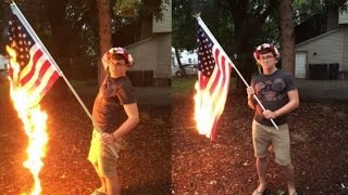 Download Illinois Man Arrested For Burning American Flag Video