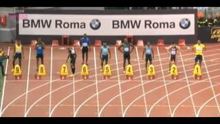 Download Justin Gatlin Beats Usain Bolt 100m - 9.94 - Golden Gala Rome Diamond League 2013 Video