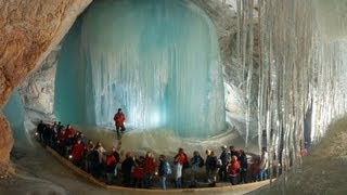 Download World's Largest Ice Cave in Austria Video