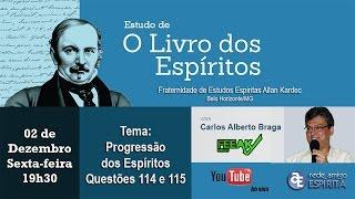 Download Progressão dos Espíritos - Qs 114 e 115 de O Livro dos Espíritos com Carlos Alberto Braga Video