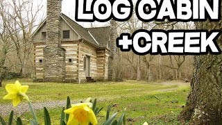 Download Artist Retreat, Sugar Creek Log Cabin 23 acres, stream, creek, Kentucky Video