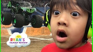 Download Giant Monster Truck show and pit party with children play area family fun trip Video