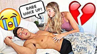 Download NOT WAKING UP PRANK ON GIRLFRIEND!! *Cute Reaction* Video