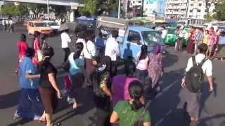 Download Traffic in Yangon / Rangoon, Burma Video