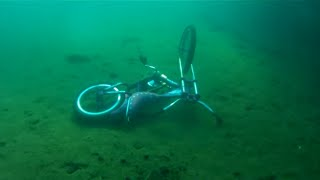 Download Vintage Scuba diving and Finding bikes in lake Superior on 8-8-2016 Video