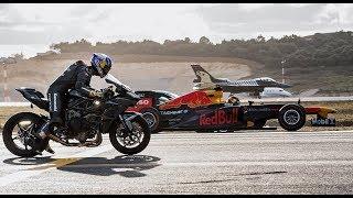 Download Kawasaki Ninja H2R Vs F1 Car Vs F16 Fighter Jet Vs Super-cars Vs PrivateJet Drag Race Video