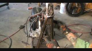 Download Harley Davidson Custom Hard Tail Chopper-Fabricating The Frame Part 1 Video