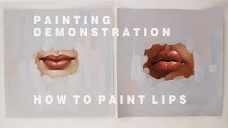 Download OIL PAINTING DEMONSTRATION #2    How To Paint Lips Video