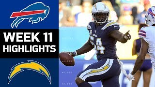 Download Bills vs. Chargers | NFL Week 11 Game Highlights Video