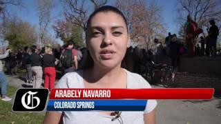 Download Big Anti-Trump Protest in downtown Colorado Springs Video