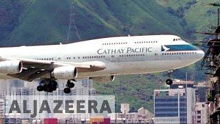 Download Hong Kong's Cathay Pacific flies last jumbo jet Video