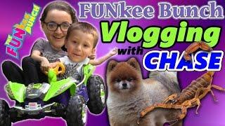 Download Family Fun Vlogging w/ Chase! A Ninja Turtle Race Car Adventure w/ Alien Scorpion Bug?!! Video