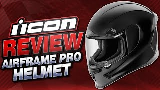Download Icon Airframe Pro Helmet Review from Sportbiketrackgear Video