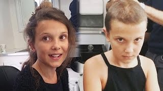 Download Watch ″Stranger Things″ Star Millie Bobby Brown Shave Her Head to Become Eleven Video