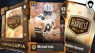 Download How To Get Over 65 Harvest Tokens To Unlock Free 93 Overall Michael Irvin or Cornucopia Pack Video