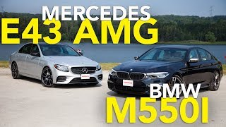 Download 2017 Mercedes-Benz E43 AMG vs 2018 BMW M550i Comparison Review Video