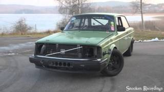 Download Volvo 240 t6 vvt 600whp+ drift and burnout test Video