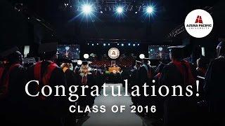 Download Congratulations, Class of 2016! | Azusa Pacific Winter Commencement Video