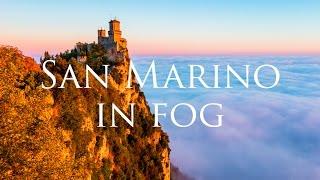 Download San Marino in fog - A timelapse short film - 4K Video