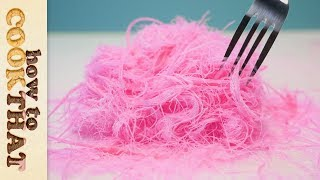 Download Pink Edible Hair   Pashmak Recipe   Dragons Beard   Cotton Candy   How To Cook That Video