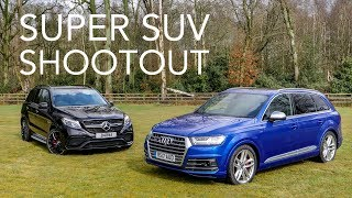 Download Mercedes-AMG GLE 63 vs Audi SQ7 Super SUVs w/ Tiff Needell Video