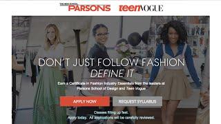 Download Teen Vogue/Parsons Fashion Certificate Program Video