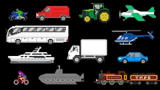 Download Basic Vehicles - Street Vehicles, Aircraft & Water Vehicles - The Kids' Picture Show Video