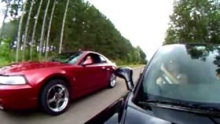 Download Supercharged Corvette Vs. Modded Mustang SVT Cobra Video