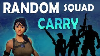 Download CARRYING RANDOM SQUAD | 19 KILLS | FUNNY ROLEPLAY - (Fortnite Battle Royale) Video