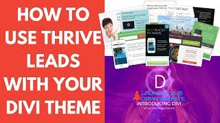 Download Thrive Leads | How to Use Thrive Leads with Elegant Themes Divi Theme Video