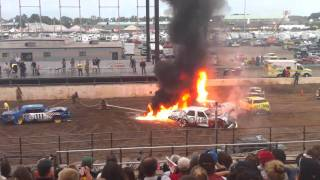 Download New York State Fair Demo Derby Fire HD (720p) Video