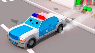Download La Voiture de police Bleu et - Dessin animé français - Drôles Voitures Video
