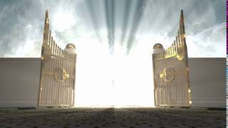Download heavens golden gates opening to an ethereal light on a cloudy background EkMlbl0eg Video