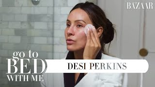 Download Desi Perkins' Nighttime Skincare Routine | Go To Bed With Me | Harper's BAZAAR Video