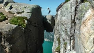 Download Kjerag Hike and Kjeragbolten, Norway in HD Video