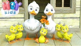 Download Five Little Ducks Went Out One Day - Nursery Rhymes by HeyKids Video