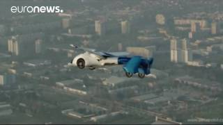 Download Flying cars at luxury auto show in Monaco Video