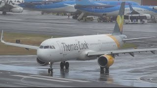 Download Rainy Day Plane Spotting at Funchal Airport, Madeira | 24-04-17 Video