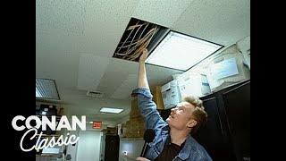 Download Conan Gives A Tour Of The ″Late Night″ Offices - ″Late Night With Conan O'Brien″ Video