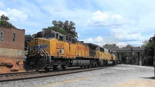 Download NS 230 highballs through Rex, Ga. with a UP leader Video