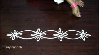 Download side designs for muggulu || kolam side designs || easy rangoli border designs Video