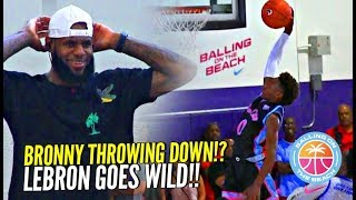 Download BRONNY James 1st In-Game DUNK!? Gets LeBron OUT OF HIS SEAT Going Wild!! Crowd GOES CRAZY! Video