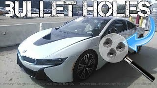 Download A $100,000 BMW i8 was Totaled Due to Bullet Holes! Real Life GTA? Video