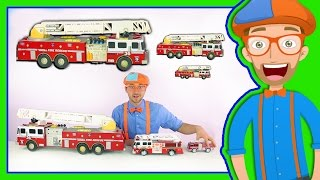 Download Learn Sizes with Fire Trucks | Blippi Toys Smallest to Biggest! Video