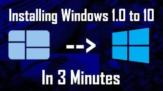 Download Installing Windows 1.0 to 10 (Time Lapse) on a Virtual Machine Video