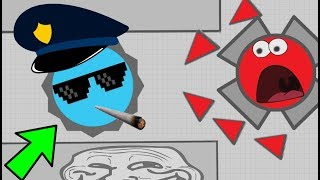 Download Diep.io FUNNY POLICE TROLL // INSANE FUUNIEST MOMENTS // FT Wormate.io Video