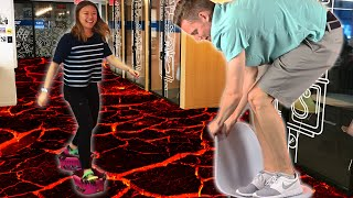 Download People Play The Floor-Is-Lava Challenge For A Day Video